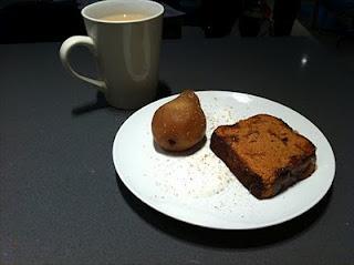 Brown sugar poached pears