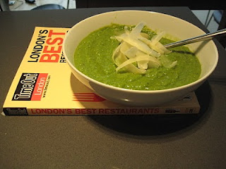 Pea and parmesan soup