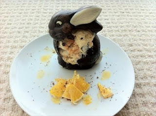 Sad bunnies with ginger jaffa ice cream and happy us