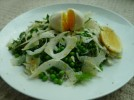 Peas, fennel, mint, parmesan and lemon salad