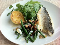 Cooking for one – Seabass with beans, burnt butter and nuts