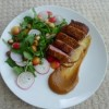 Duck with roast apple sauce