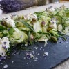 Fennel, ricotta and pistachio salad with lavender salt
