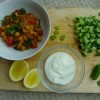 Chickpea, tomato and spinach curry