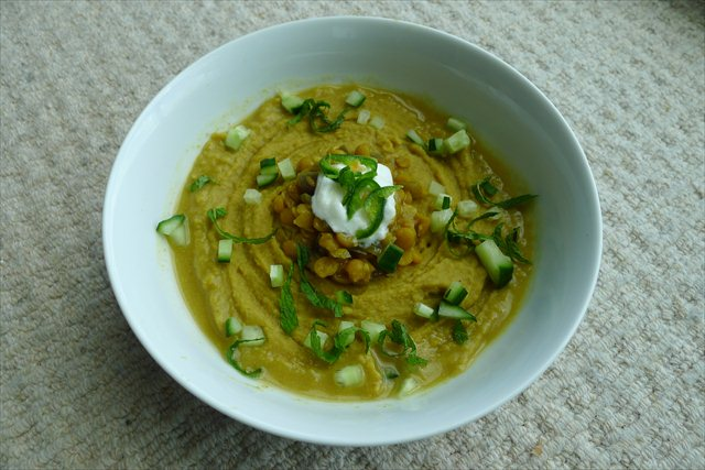 Yellow Split Pea, Ginger and Coconut soup