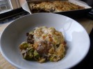 Sprout and Mushroom Gratin