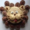 Lion Birthday Cake with Allergy Friendly Coconut Flour Cupcakes