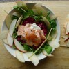Poached Salmon with Beetroot, Grains, Apple and Horseradish