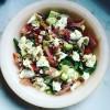 Prosciutto, Courgette, Burrata and Basil Salad