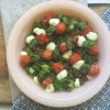 Roast Tomato, Pesto, Bocconcini and Lentil Salad